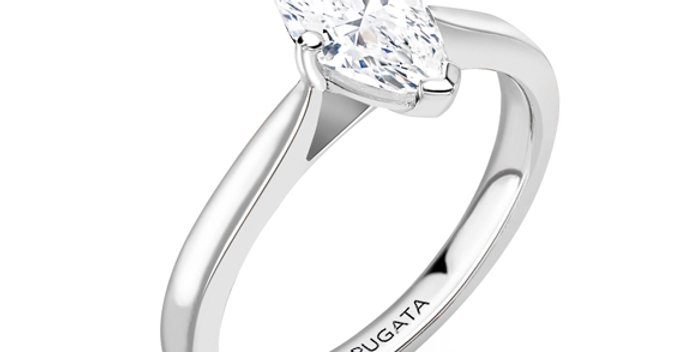 Marquise Solitaire Diamond Engagement Ring