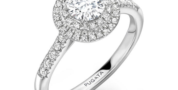 White Gold Double Halo Engagement Ring