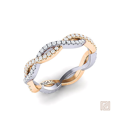 Platinum & Yellow Gold Pavé Infinity Ring