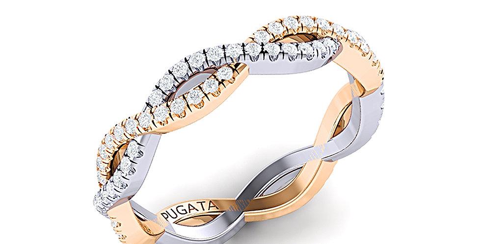 Platinum & Yellow Gold Pavé Infinity Ring