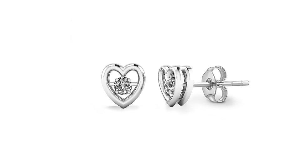 Dancing Diamond Heart Earrings