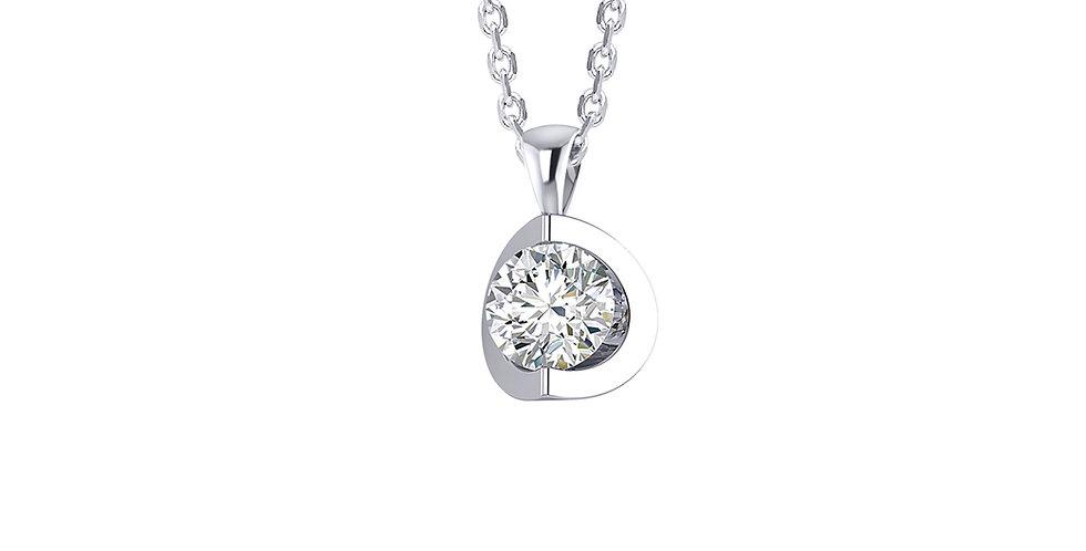 Curve Round Diamond Pendant