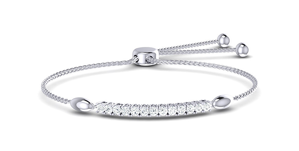 Diamond Adjustable Toggle Bracelet