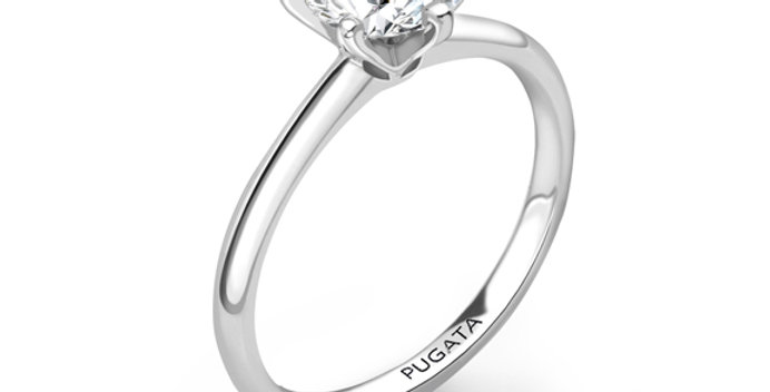 Classic Round 6 Claw Solitaire Engagement Ring