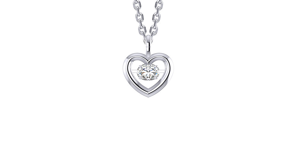 Dancing Diamond Heart Pendant