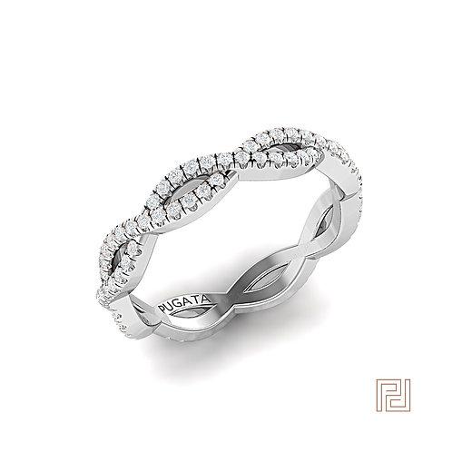 Platinum Pavé Infinity Ring