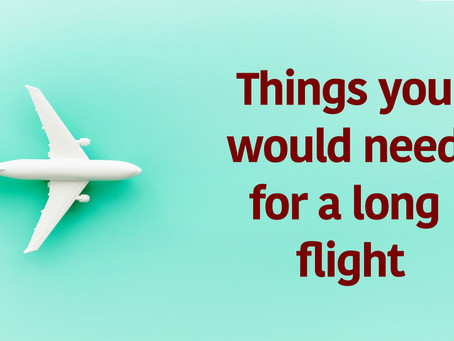 12 must have things for a long flight