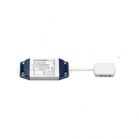 LED Transformator   Verteiler 6-Loch   Serie   15 Watt   700 mA