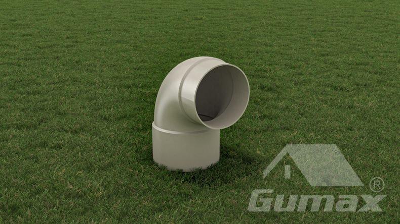 90 Grad PVC-Bogen 75 mm Matt Weiß