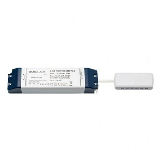LED Transformator | Verteiler 12-Loch | Serie | 36 Watt | 700 mA
