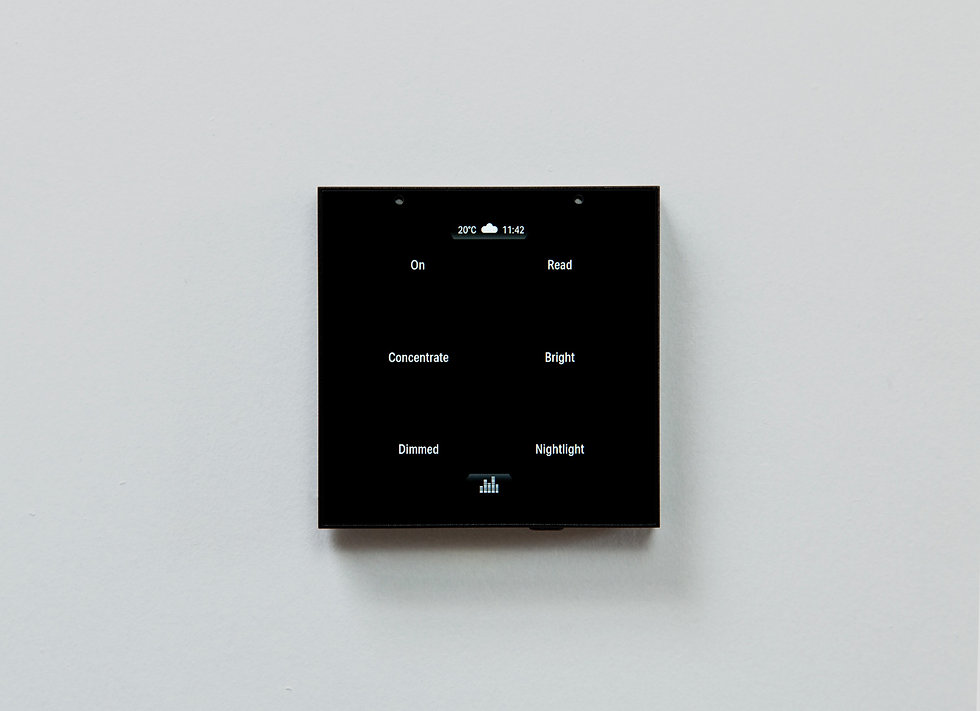 The Violet SmartSwitch Lite in place on a white wall