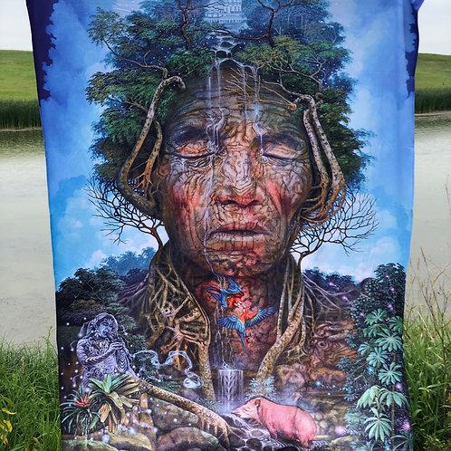 'Agua Viva' blanket by Luis Tamani