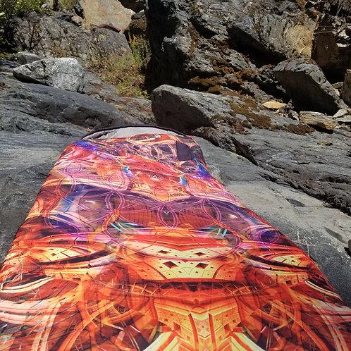 """Birth of Scarab"" Sleeping bag art by Johnathan Singer"