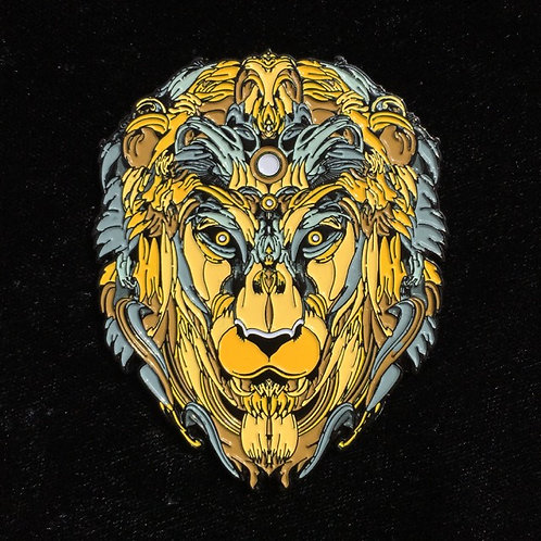 """Brass Lion"" by Mugwort Designs OGle111"