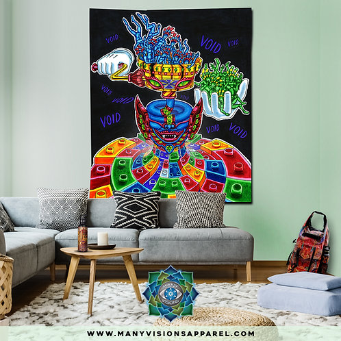 """Printing Machine""Tapestry art by Salvia Droid SMALL"