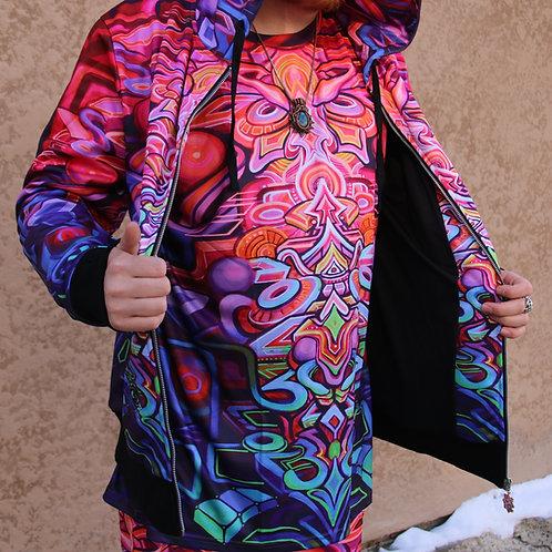 """""""Coda"""" Zip up hoodie, art by Stephen Kruse"""
