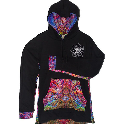 Reverse pullover hoodie Chris Dyer/Jonathan Singer collar
