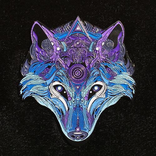 """Chrome Wolf"" le111 by Mugwort Designs"
