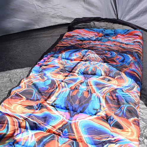 """Universal Energy Shift"" Sleeping bag art by Johnathan Singer"
