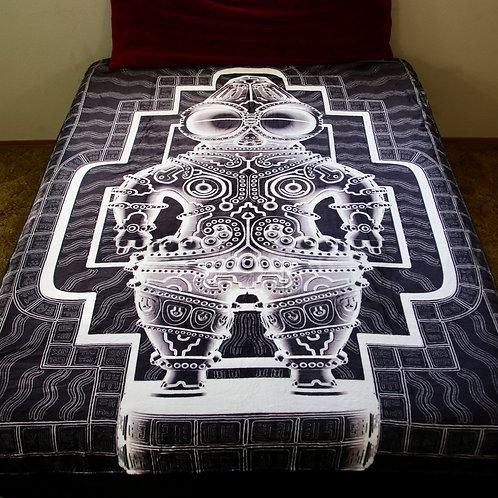 """""""Dogu"""" blanket art by Ben Ridgway"""