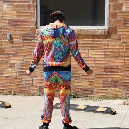 "Seth McMahon ""Raw Data"" jogger and hoodie set"
