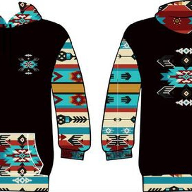 Tribal Many Visions hoodie (Black)