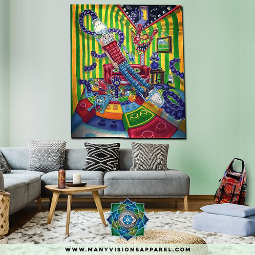 """""""Accordion Boy""""Tapestry art by Salvia Droid SMALL"""