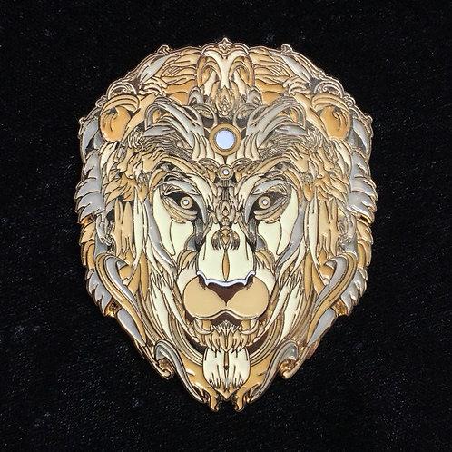 """Brass Lion"" by Mugwort Design le33"