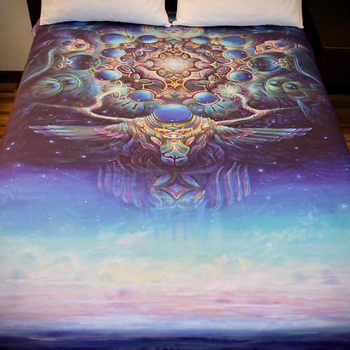"""Gateway to the Northstar"" blanket by Jonathan Solter"