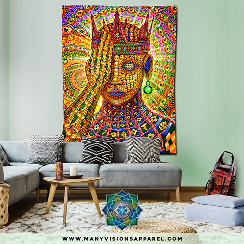 """""""Overclocked Cortex""""""""Tapestry art by Salvia Droid Large"""
