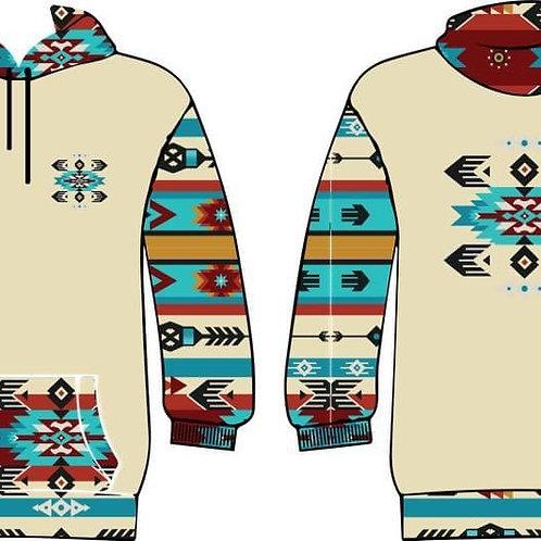 Tribal Many Visions hoodie (Oatmeal)