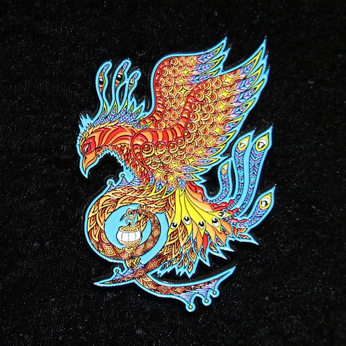 """Phoenix"" by Phil Lewis, hat pin"