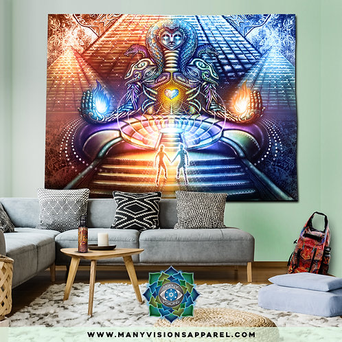 """Fire Moon""Tapestry art by Salvia Droid Large"