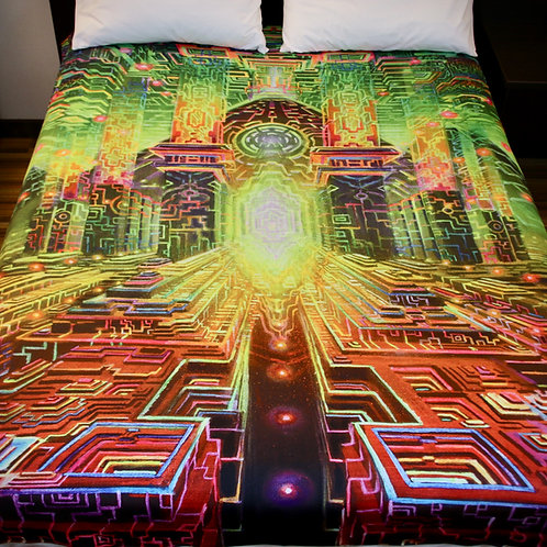 """Avalon"" blanket by Jonathan Solter"
