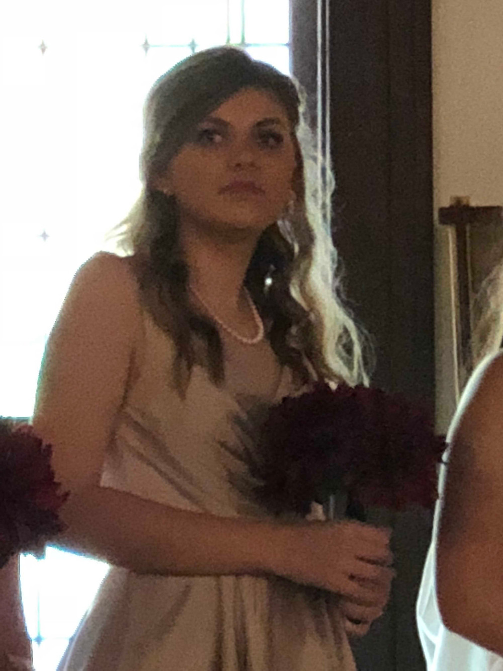 Abby as a bridesmaid