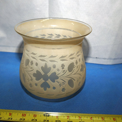 Late 1800s Cut Etched Oil Lap Shade