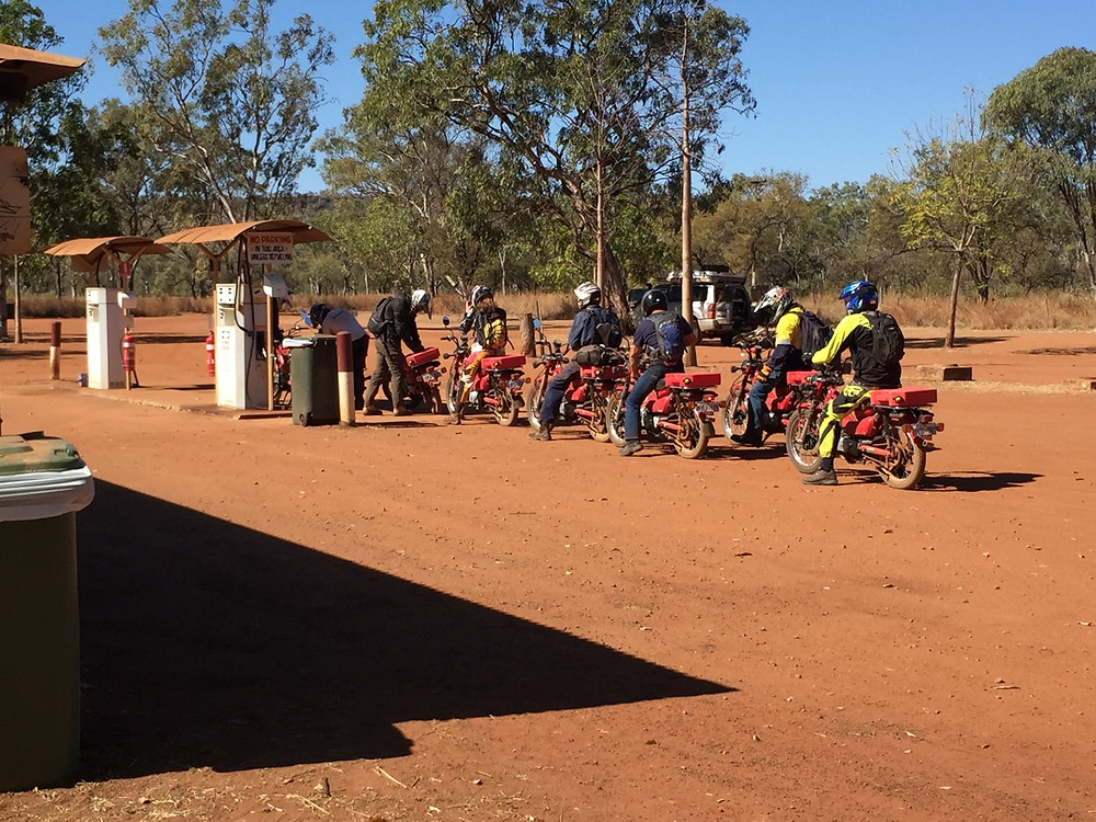 Postie bikes on the Gibb River Road