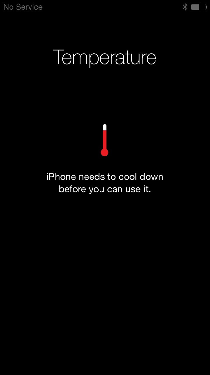 iPhone needs to cool down before you can use it