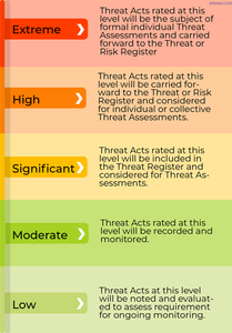 Example of a threat tolerance rating