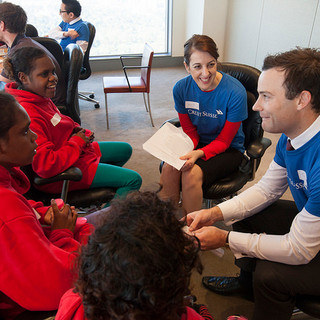 Horizons session with Credit Suisse volunteers.