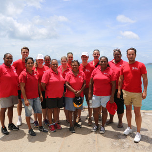 Our Palm Island team welcoming Viva Energy to their home.