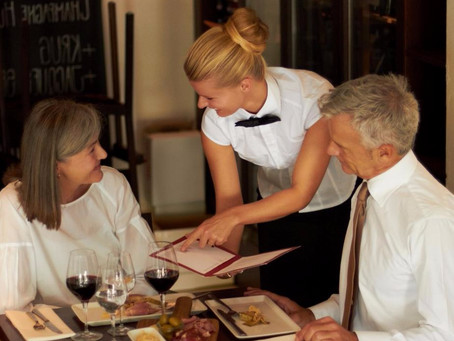 DINING OUT: ETIQUETTE AT THE RESTAURANT.