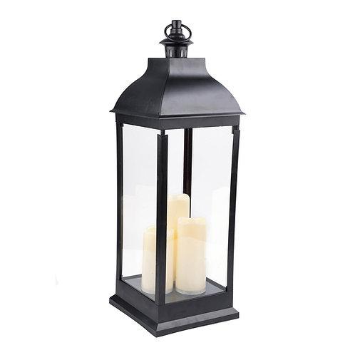 Lanterne noir à bougie