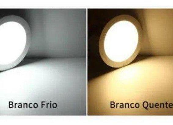 Led Line Circular Branca/Luz Amarela