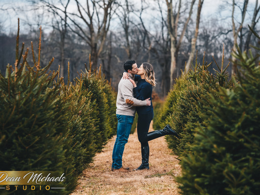 HIDDEN POND TREE FARM ENGAGEMENT | CARLA & JOSEPH