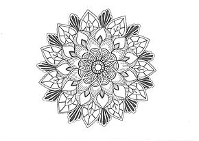 Mandala Template for Glow by 4Bs Lantern