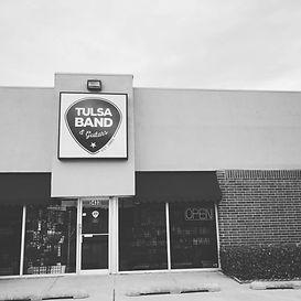 Outside of Tulsa Band & Guitars storefront in Tulsa, Oklahoma