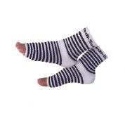 Pedi-Sox / Black & White Stripe Original