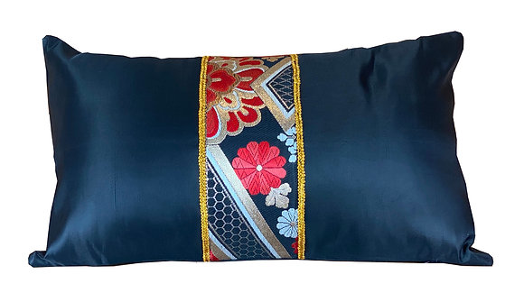 copy of Vintage Japanese silk obi embroidered cushion