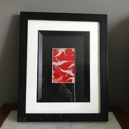 up-cycled vintage framed kimono picture